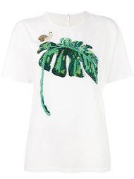 футболка с украшением пайетками в виде бананового листа Dolce & Gabbana