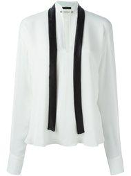 блузка с контрастными лентами Plein Sud