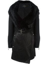 кожаное пальто Plein Sud