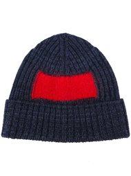 шапка-бини с контрастной вставкой  Oamc