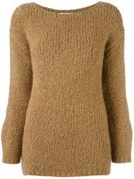 свитер с круглым вырезом   Erika Cavallini