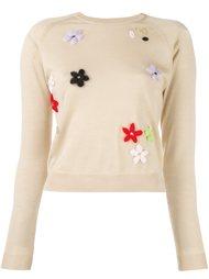 свитер с цветочной вышивкой Simone Rocha