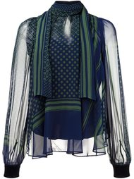 полупрозрачная блузка  Sacai