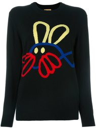 свитер с контрастным принтом Peter Jensen