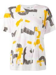 abstract print T-shirt Jil Sander