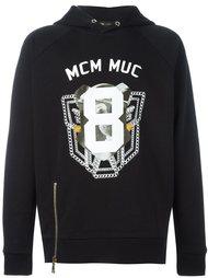 толстовка с капюшоном и логотипом MCM