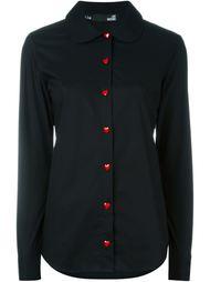 рубашка с контрастными пуговицами Love Moschino
