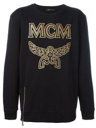толстовка с принтом логотипа  MCM