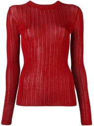 свитер с прозрачными полосками  DKNY