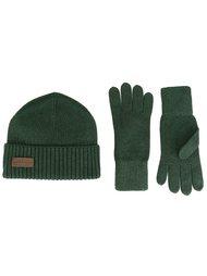 комплект из шапки и перчаток в рубчик Dsquared2