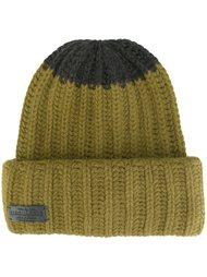 трикотажная шапка с контрастной вставкой Dsquared2