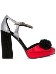 туфли с отделкой металлик на платформе  Giorgio Armani