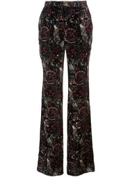 брюки с цветочным узором Roberto Cavalli