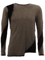 свитер с панельным дизайном  Masnada
