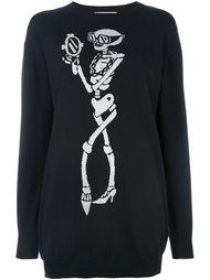 платье-толстовка с принтом скелета Moschino