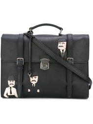 сумка-мессенджер с нашивкой Dolce & Gabbana