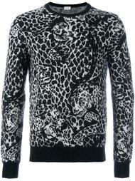 свитер с леопардовым узором Saint Laurent