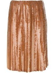 юбка со складками и пайетками Emilio Pucci