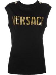 топ с логотипом Versace
