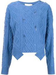 свитер с рваными деталями  Stella McCartney