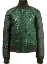 куртка-бомбер с кружевными панелями Sacai