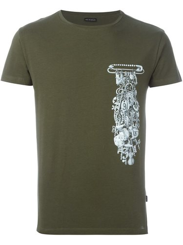 футболка с принтом подвесок на булавке Marc Jacobs