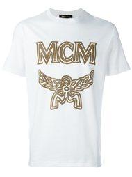 футболка с принтом логотипа  MCM