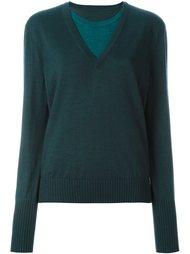 свитер с эффектом многослойности Maison Margiela