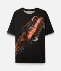 футболка с принтом аварии  Christopher Kane