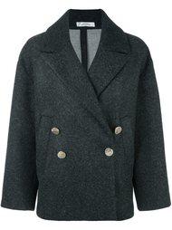 пальто шифт с расклешенными рукавами Versace Collection