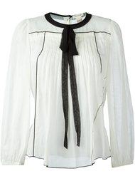 блузка с контрастной завязкой Marc Jacobs