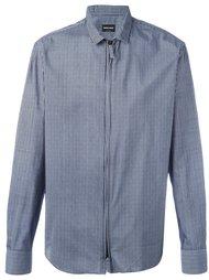 полосатая рубашка с застежкой-молнией Giorgio Armani