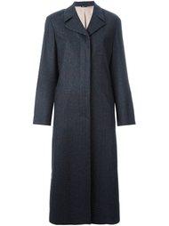 пальто в клетку Jil Sander Navy