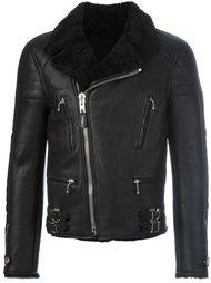 байкерская куртка с подкладкой из овчины Givenchy
