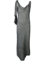 твидовое драпированное платье Maison Margiela