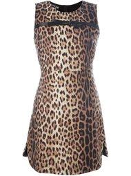 платье с леопардовым принтом Boutique Moschino