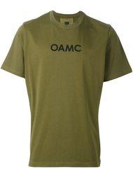 футболка с контрастной полосой на спине Oamc