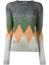 свитер с ромбовидным узором Marco De Vincenzo