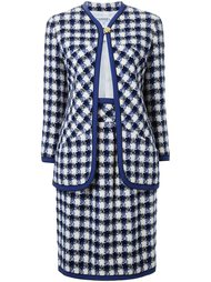 пиджак с юбкой в клетку Chanel Vintage