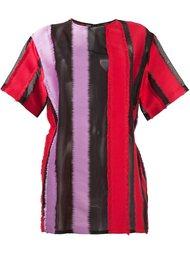 футболка с полосатыми панелями Versace