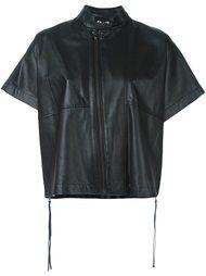 кожаная куртка с короткими рукавами Diesel Black Gold