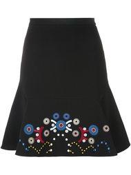 юбка А-образного кроя  с вышивкой  Peter Pilotto