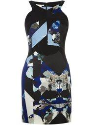приталенное платье с абстрактным принтом Antonio Berardi