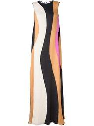 полосатое платье Roksanda