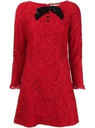кружевное платье с пайетками Saint Laurent