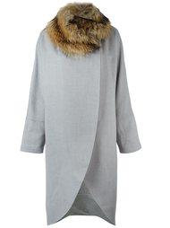 пальто с меховым воротником Eleventy