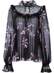блузка с цветочным принтом  Giamba