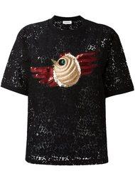 кружевная футболка с короткими рукавами и аппликацией Au Jour Le Jour