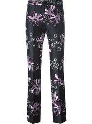 брюки с цветочным принтом  Giamba