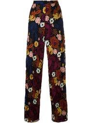 брюки с цветочной вышивкой Alice+Olivia